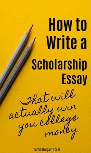 Tips On How To Make Your Scholarship Essay Stand Out
